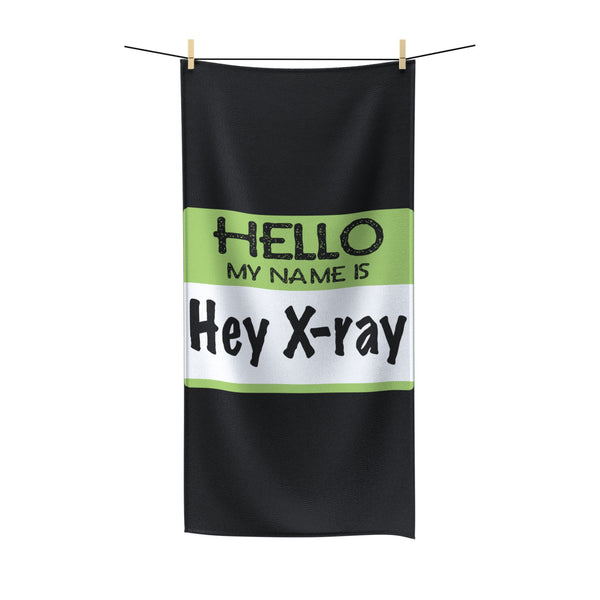 """Hello My Name Is"" Polycotton Towel"