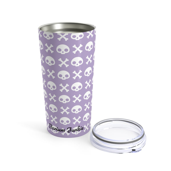 Skull & Crossbones Radiology Tumbler 20oz (Purple)