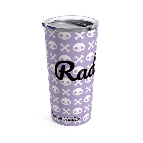 Skull & Crossbones Radiology Tumbler 20oz (Purple) #2