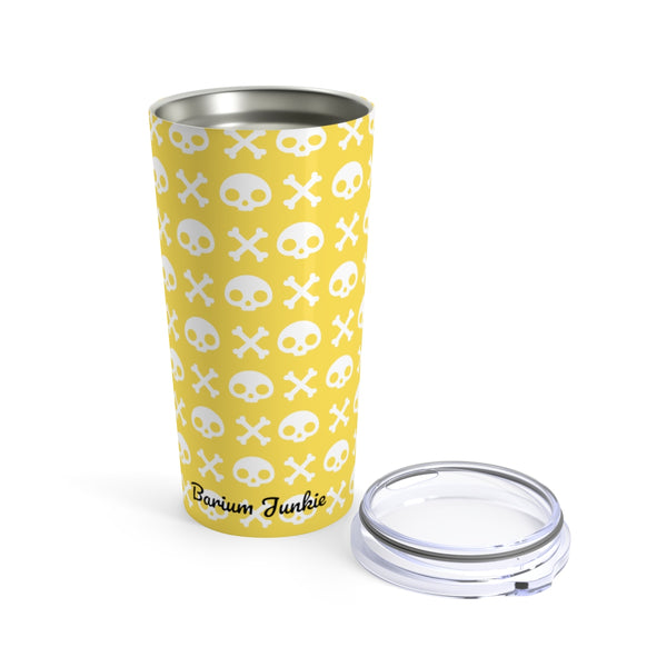 Skull & Crossbones Radiology Tumbler 20oz (Yellow)