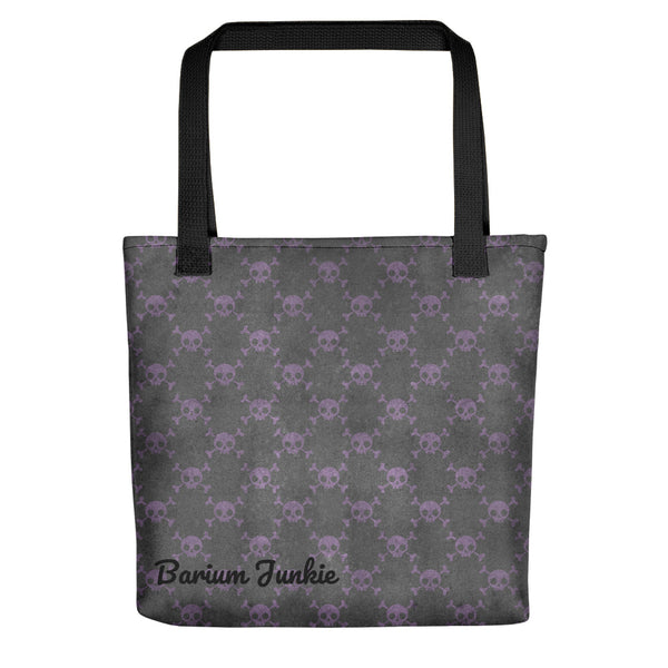 Purple Skulls Tote bag (Gray Background)