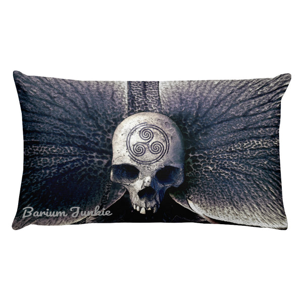 Engraved Skull Rectangular Pillow