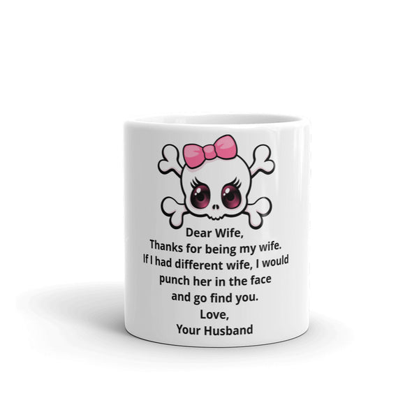 """Dear Wife"" One Sided Mug"