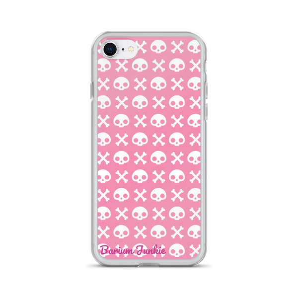 Skull & Crossbones iPhone Case (Pink)