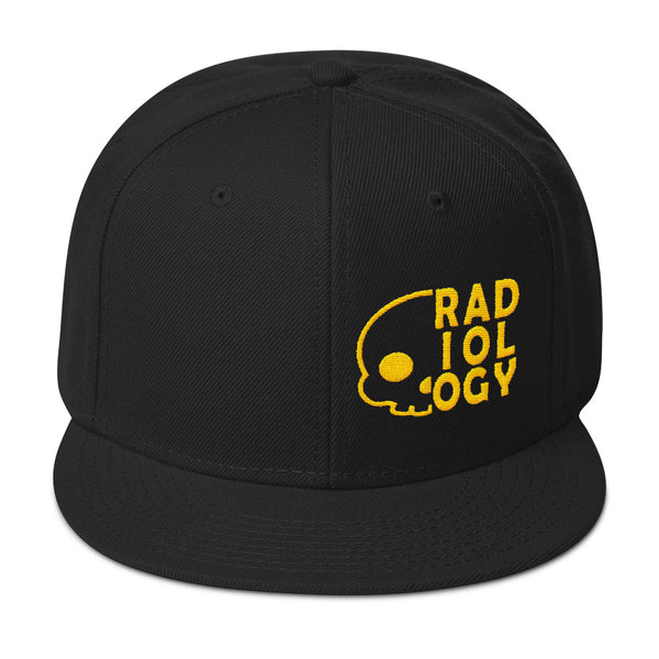 "Barium Junkie ""Radiology"" Black and Yellow Snapback Hat"