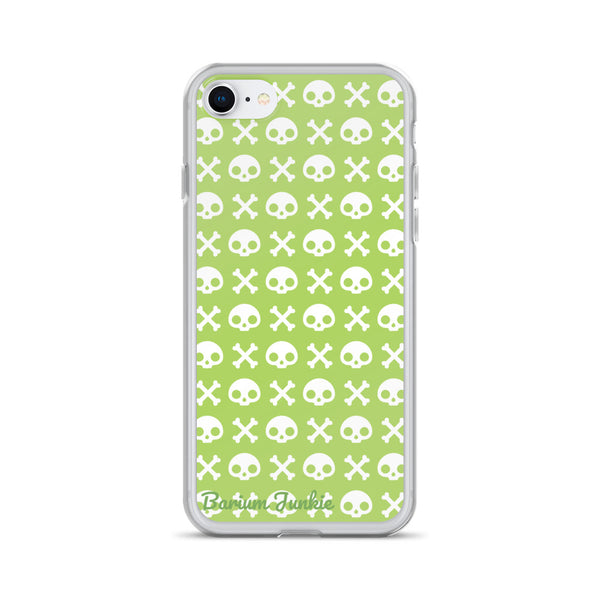 Skull & Crossbones iPhone Case (Pea Green)