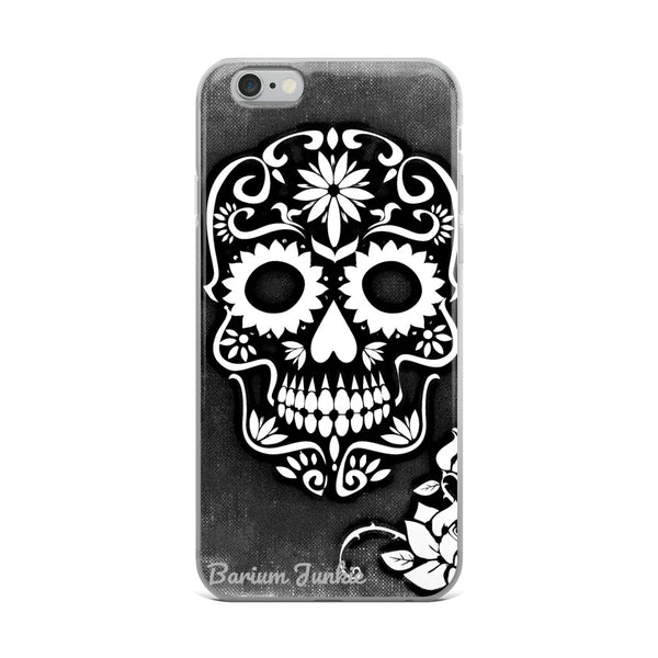 Sugar Skull iPhone Case (Black and White)