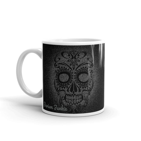 Sugar Skull Mug (Black and Gray) #1