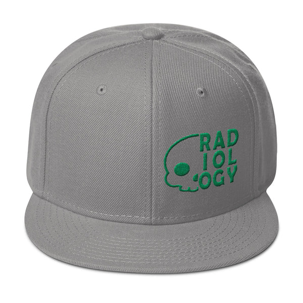 "Barium Junkie ""Radiology"" Gray and Dark Green Snapback Hat"