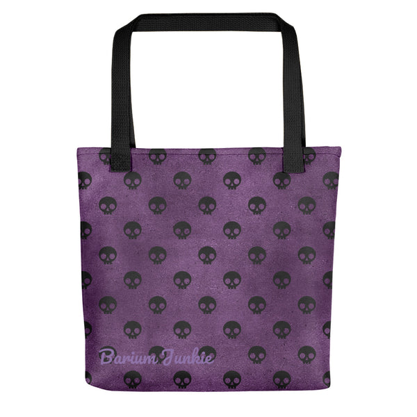Black Skulls Tote bag (Purple Background) #2