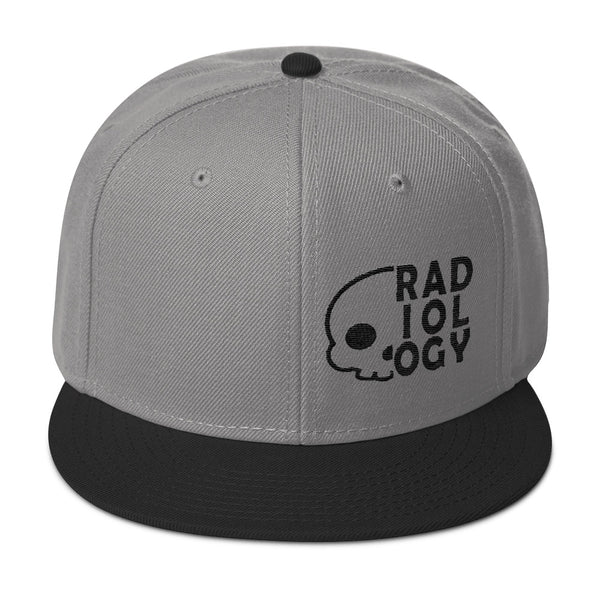 "Barium Junkie ""Radiology"" Gray and Black Snapback Hat"