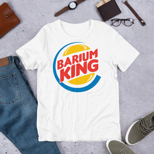 "Barium Junkie ""Barium King"" Bella + Canvas 3001 Unisex Short Sleeve Jersey T-Shirt with Tear Away Label"