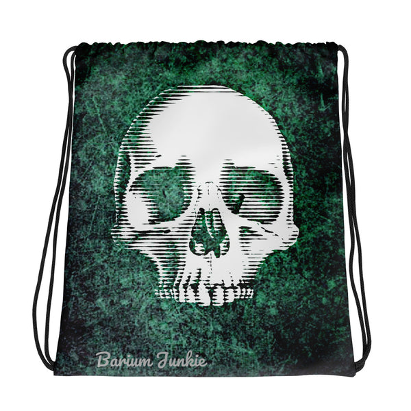 Digital Skull Drawstring bag
