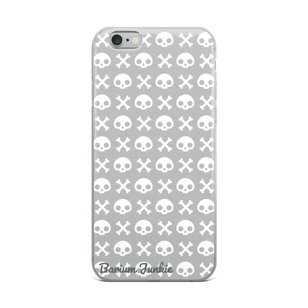 Skull & Crossbones iPhone Case (Gray)