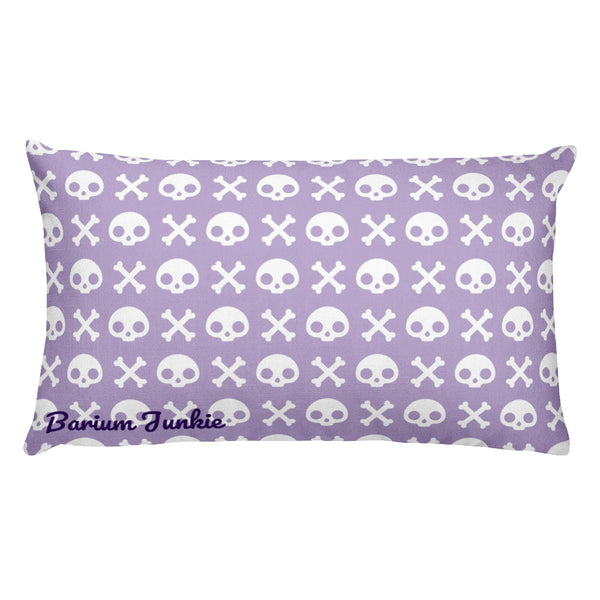 Skull & Crossbones Rectangular Pillow (Purple)