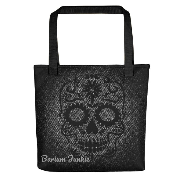 Sugar Skull Tote bag (Black and Gray) #2
