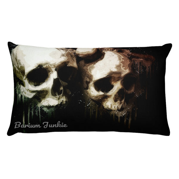 Lover's Skulls Rectangular Pillow