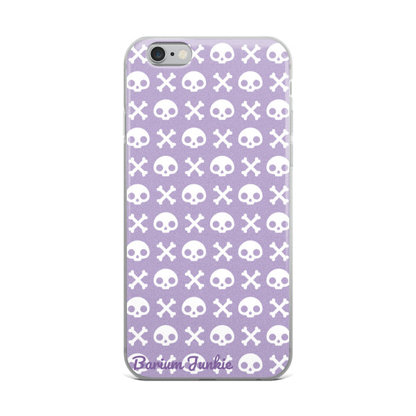 Skull & Crossbones iPhone Case (Purple)