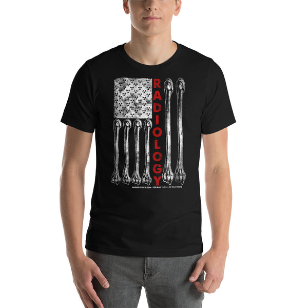 American Flag Radiology Tech Short-Sleeve Unisex T-Shirt