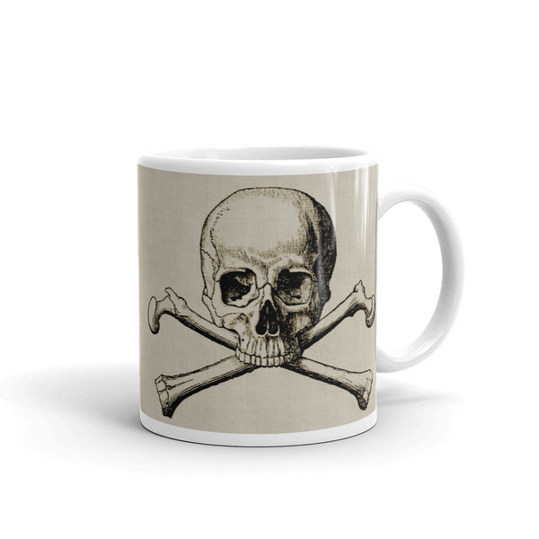 Skull & Crossbones Mug (Tan and Black)