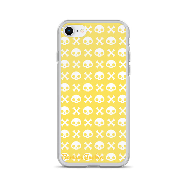 Skull & Crossbones iPhone Case (Yellow)