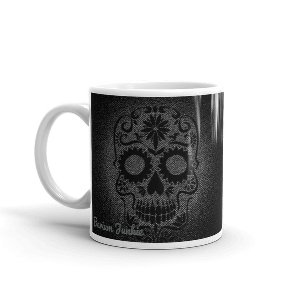 Sugar Skull Mug (Black and Gray) #2