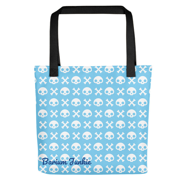 Skull & Crossbones Tote bag (Baby Blue)