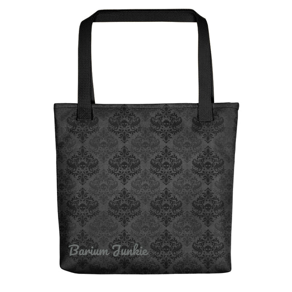 Black and Gray Skulls Gothic Tote bag (Gray background)