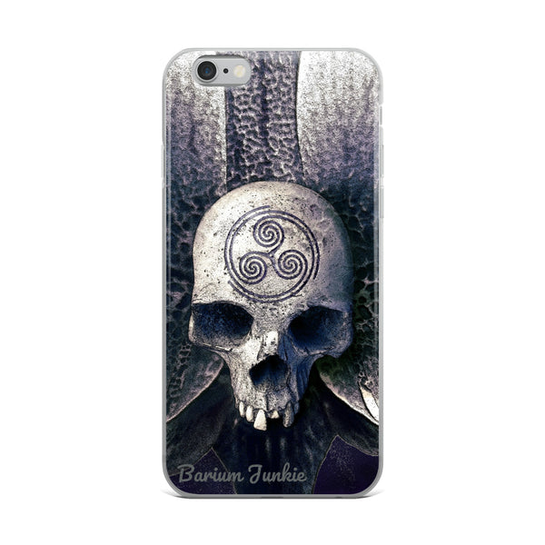 Engraved Skull iPhone Case