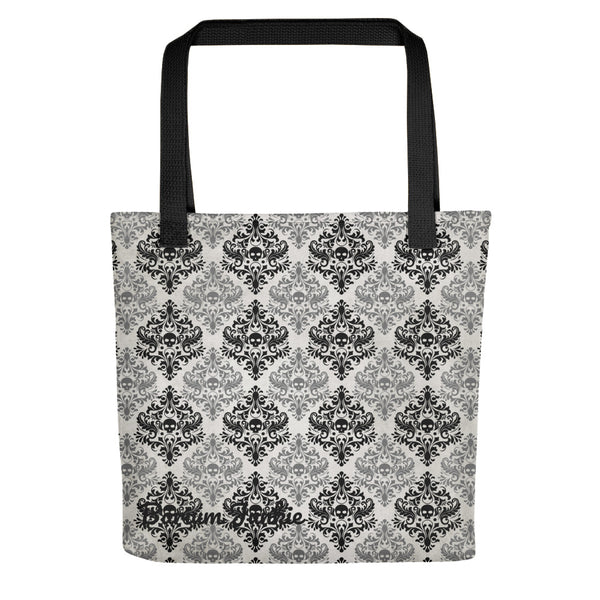 Black and Gray Skulls Gothic Tote bag