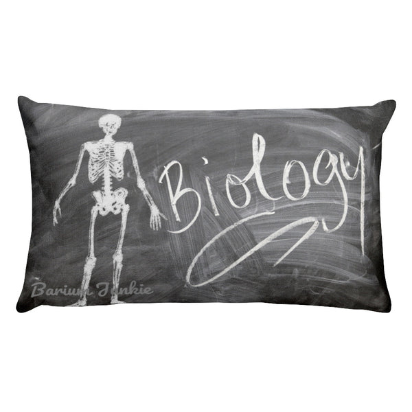 Biology Skeleton Rectangular Pillow