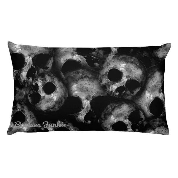 Pile O' Skulls Rectangular Pillow