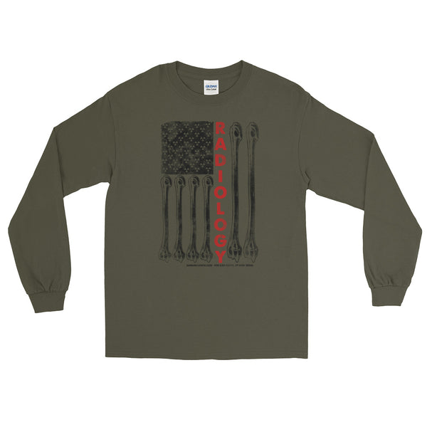 "Uni-sex ""Radiology America Flag"" Long Sleeve T-Shirt"