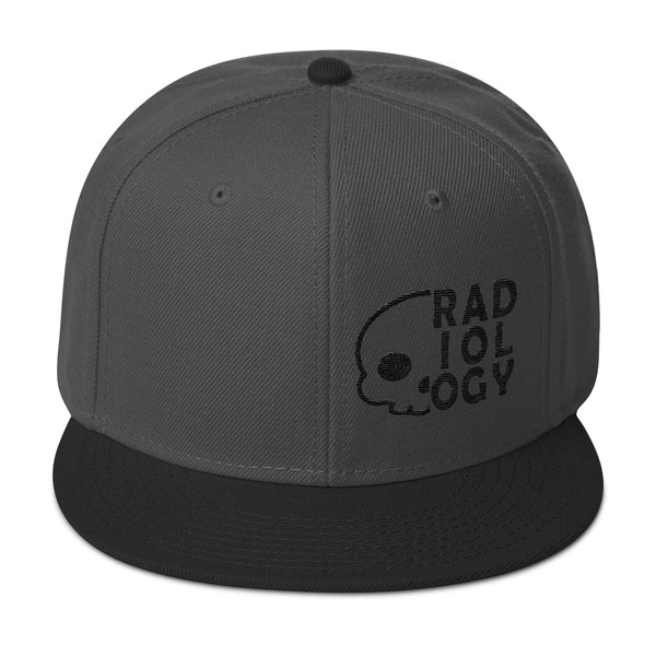 "Barium Junkie ""Radiology"" Dark Gray and Black Snapback Hat"