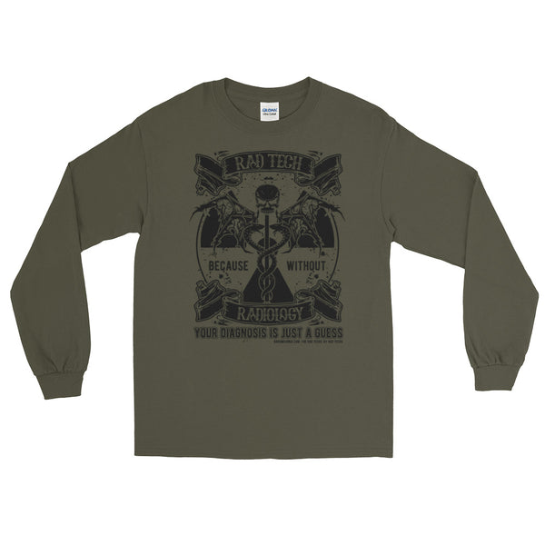 "Uni-sex ""Caduceus Symbol"" Long Sleeve T-Shirt"
