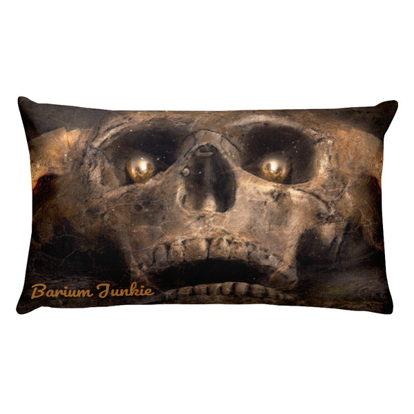 Death Stare Skull Rectangular Pillow