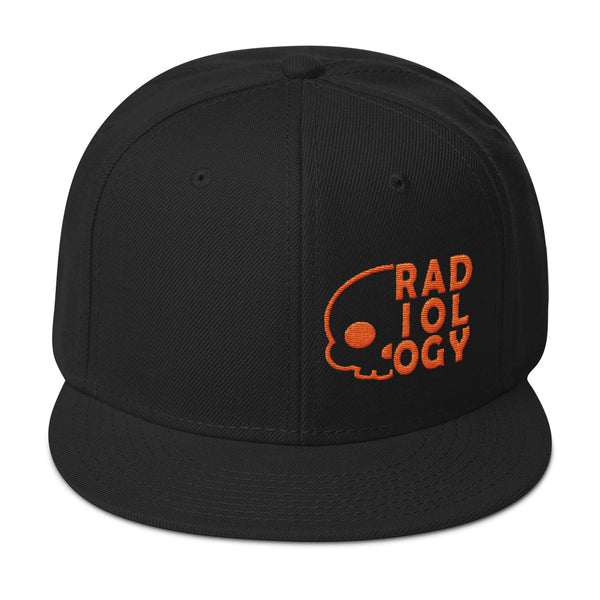 "Barium Junkie ""Radiology"" Black and Orange Snapback Hat"