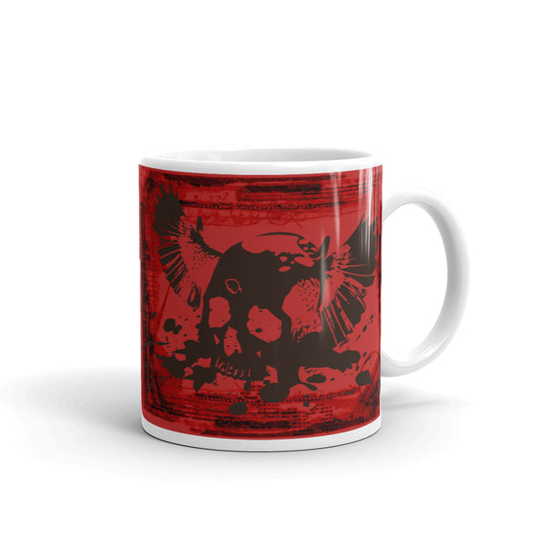 Flying Skull Mug (Red and Black)