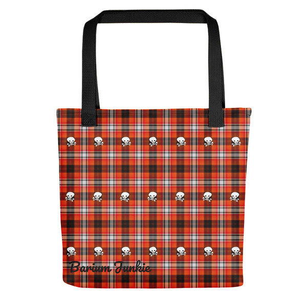 Plaid Skull Tote bag (Red and Black)