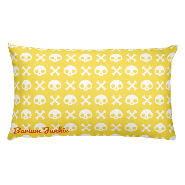 Skull & Crossbones Rectangular Pillow (Yellow)