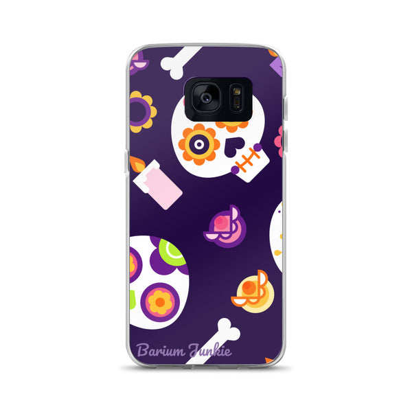 Sugar Skull Samsung Case (Purple)