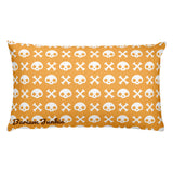 Skull & Crossbones Rectangular Pillow (Nude)