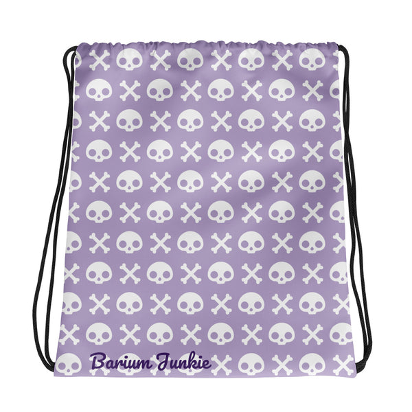 Skull & Crossbones Drawstring bag (Purple)