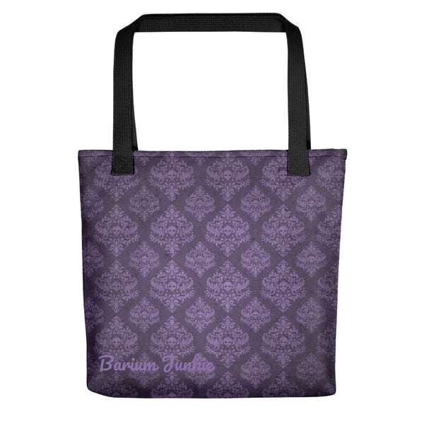 Purple Skulls Gothic Tote bag (Purple Background)