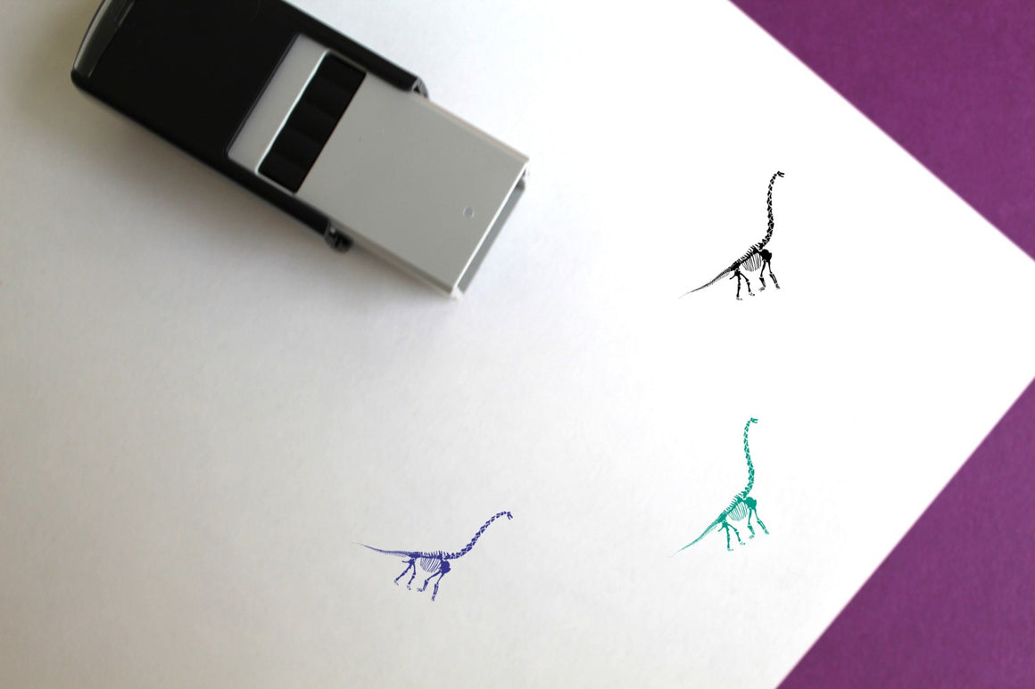 Diplodocus Skeleton Self-Inking Rubber Stamp
