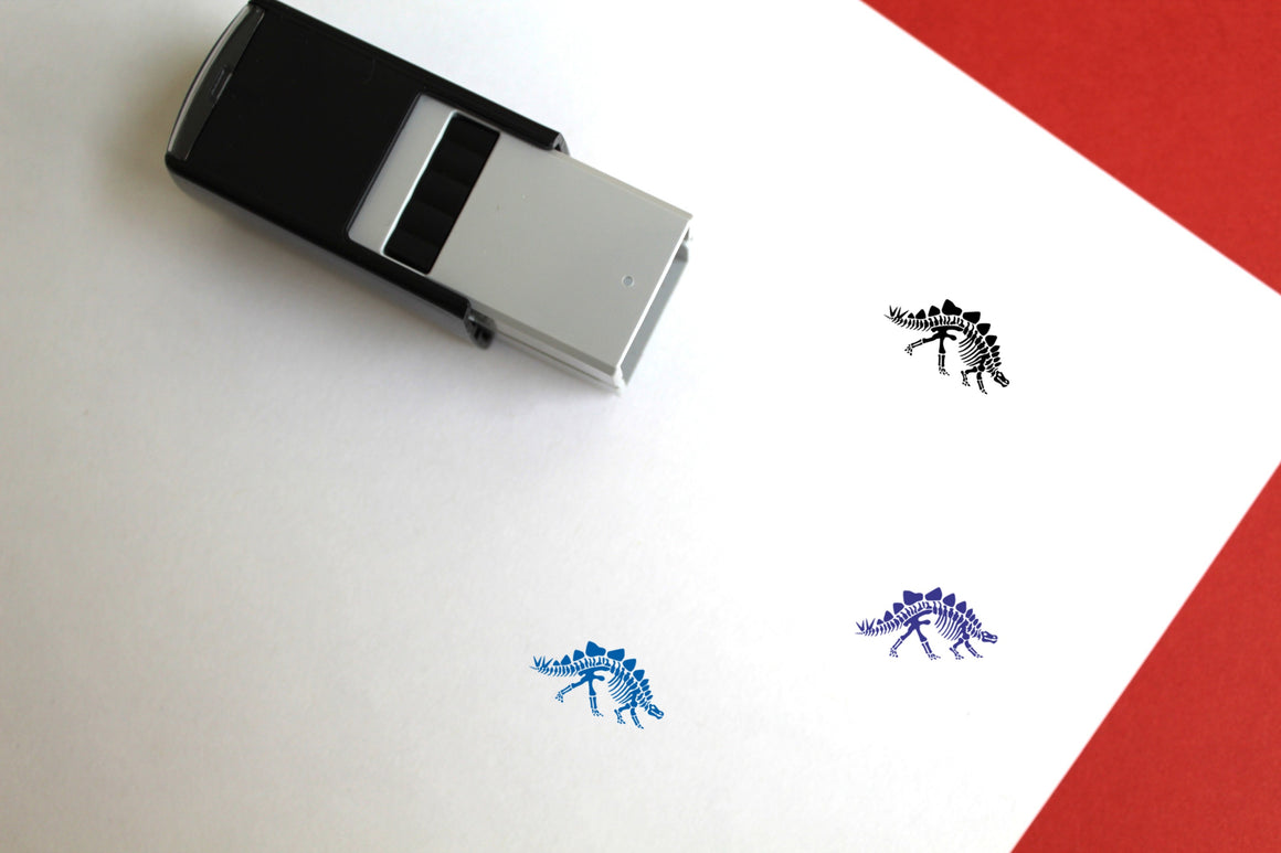 Stegosaurus Skeleton Self-Inking Rubber Stamp
