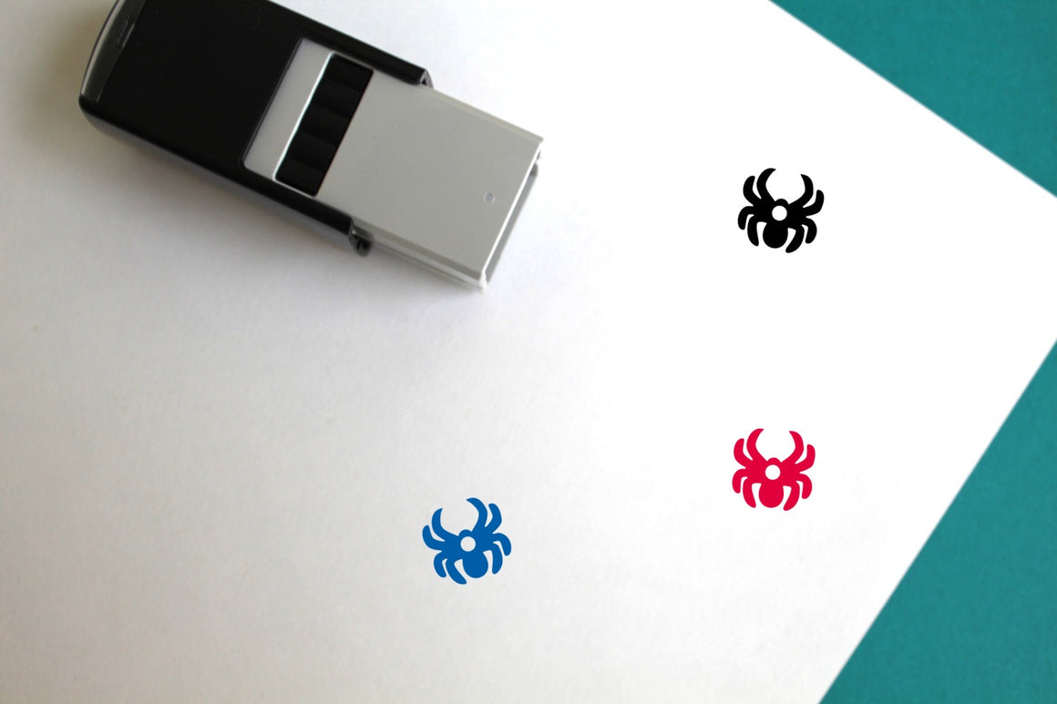 Spider Self-Inking Rubber Stamp