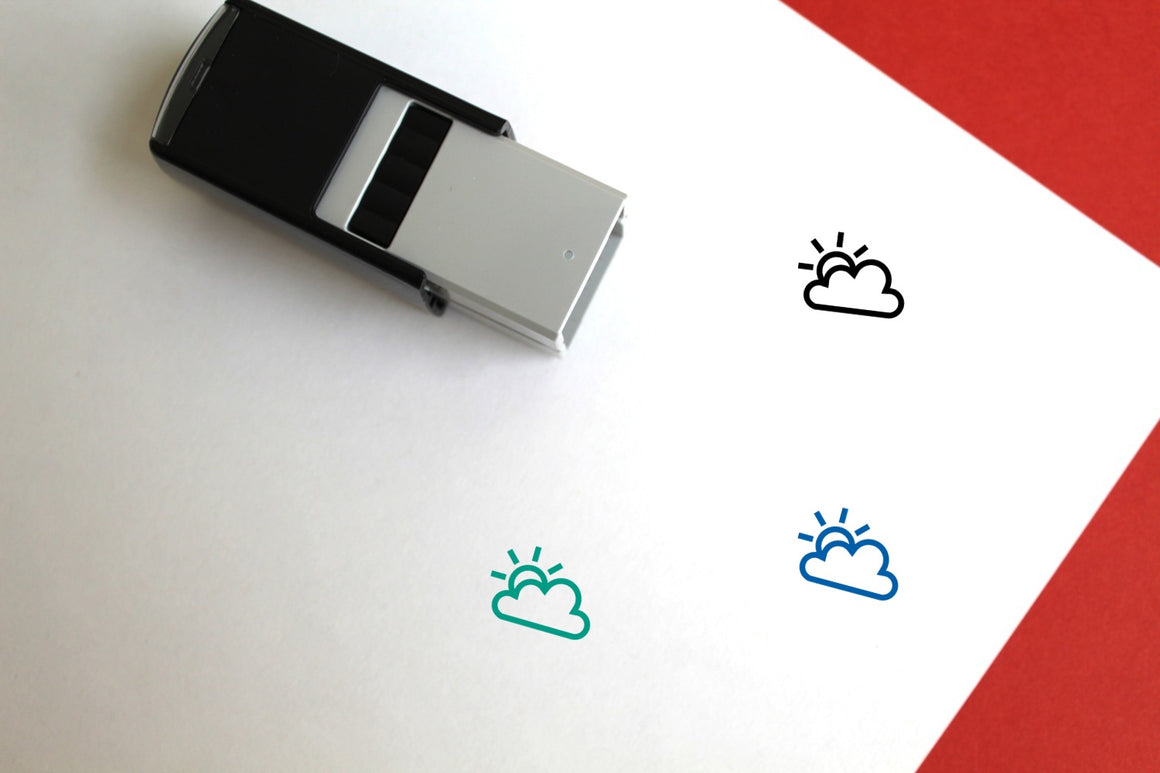 Party Cloudy Self-Inking Rubber Stamp