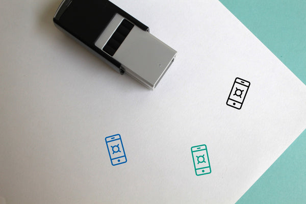 Currency Phone Self-Inking Rubber Stamp