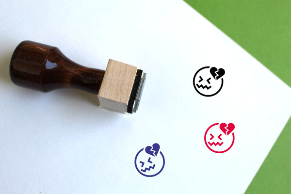 Dizzy Wooden Rubber Stamp